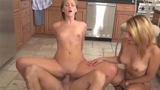 Wife in Threesome Sex with her Husband and His Assistent